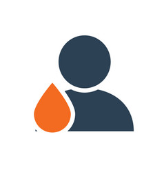 User profile with drop line icon blood donation vector
