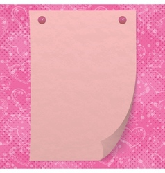 Valentine background with paper vector image