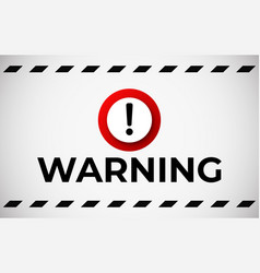 warning attention banner vector image