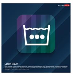 washingsymbol icon vector image