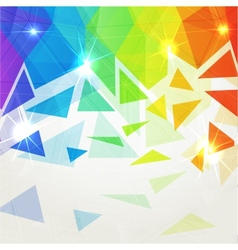 Abstract shining polygonal rainbow background vector image vector image