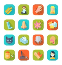 Allergy Icon Flat vector image vector image