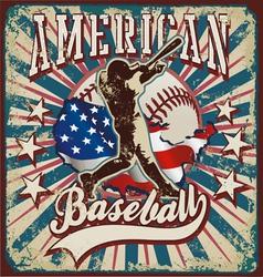 american baseball sport vector image vector image