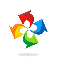 arrow circle colorful logo vector image