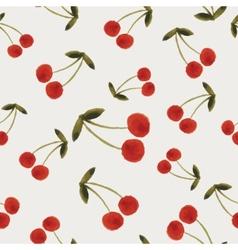 Autumn cherries pattern vector image