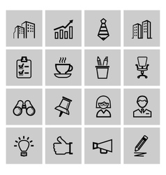 black business icons vector image vector image