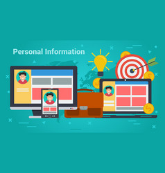 business banner - personal information vector image vector image