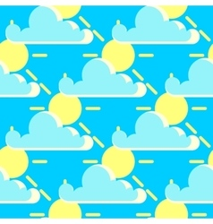 clouds and the sun good weather seamless vector image vector image