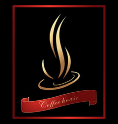Coffee label background vector image