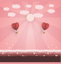 happy valentine day concept vector image vector image