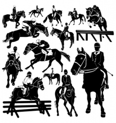 horse equestrian vector image vector image