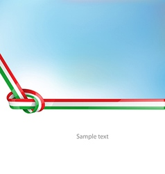 italian ribbon flag on background vector image vector image