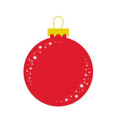 red glass ball christmas tree decoration vector image
