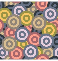 Retro seamless pattern with circles vector image vector image
