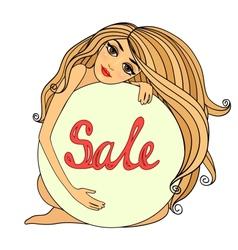 Sale symbol badge template vector image