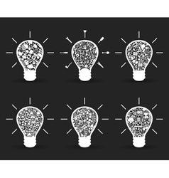 Set of bulbs vector image vector image