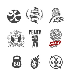 sport theme abstract logos vector image