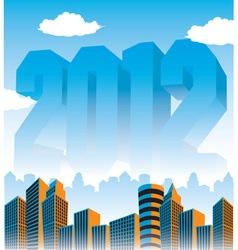 2012 Cityscape vector image vector image