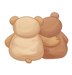 bears back vector image vector image