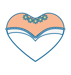 bride dress in heart shape icon vector image