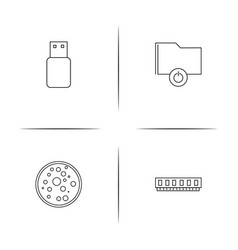 Devices simple linear icon setsimple outline icons vector
