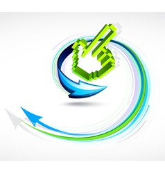 finger pointer and arrow vector image vector image