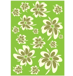 flower poster vector image vector image