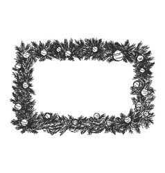 hand sketch of Christmas frame vector image vector image