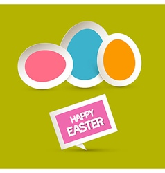 Paper Easter Eggs Happy Easter celebration vector image vector image
