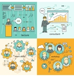 Set of Business Education Banners vector image