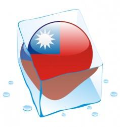 Taiwan flag vector image vector image