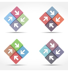 Abstract Emblem with Arrows vector image vector image