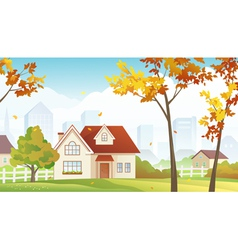 Fall suburb vector image