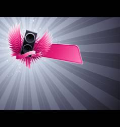 loudspeaker party design vector image