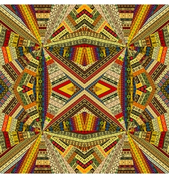 Tribal background with optical effect vector image vector image