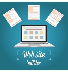 Web site builder template prototyping vector image