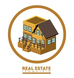 Isometric Real Estate design vector image vector image