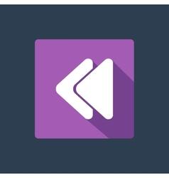 Rewind button icon vector image vector image