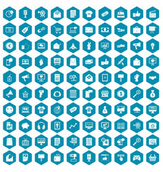 100 internet marketing icons sapphirine violet vector image