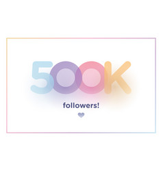 400k or 400000 followers thank you colorful vector