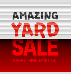 Amazing yard sale poster template vector