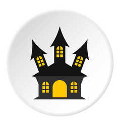 Ancient palace icon circle vector