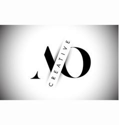 Ao a o letter logo with creative shadow cut vector