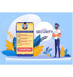 Application for mobile offering digital security vector