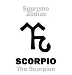 Astrology supreme zodiac scorpio the scorpion vector
