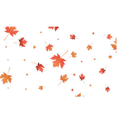 autumn maple leaves background falling autumn vector image