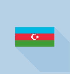 Azerbaijan in official proportions vector