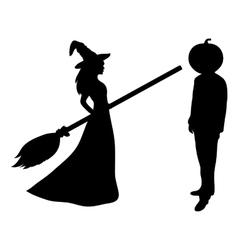 Beautiful melodies with a broom vector image