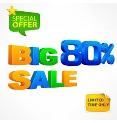 Big sale inscription 80 vector