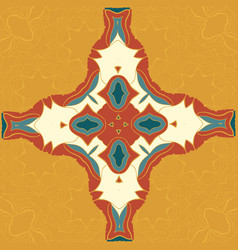 brown and blue seamless mandala decor for vector image